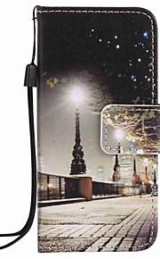 stad landskap målning pu ringer fallet för Apple iTouch 5 6