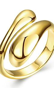 Ringe Bryllup / Party / Daglig / Afslappet Smykker Plastik / Sølvbelagt / Guldbelagt / Rødguldbelagt Dame Ring 1pc,6 / 7 / 8Gylden / Sølv