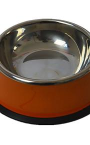 Hund Matbehållare Husdjur Skålar & Feeding Vattentät / Ledigt/vardag Slumpmässig färg Plast / Rostfritt Stål