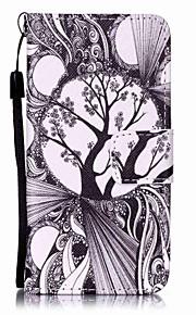 svarta och vita träd målning pu ringer fallet för Apple iTouch 5 6