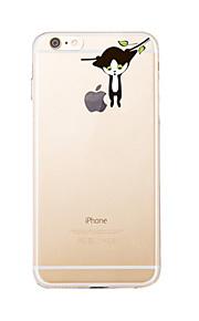 För Transparent / Mönster fodral Skal fodral Katt Mjukt TPU för AppleiPhone 7 Plus / iPhone 7 / iPhone 6s Plus/6 Plus / iPhone 6s/6 /