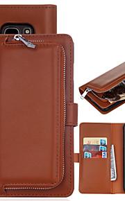 Per Samsung Galaxy S7 Edge Porta-carte di credito / A portafoglio / Con chiusura magnetica Custodia Integrale Custodia Tinta unita