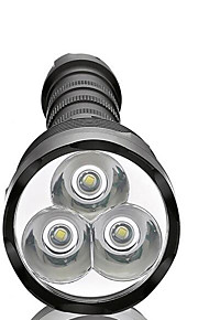 Luci Torce LED LED 3800 Lumens 5 Modo LED 18650 / AAA Dimmerabile / Impermeabili / Alta intensità / Ultraleggero