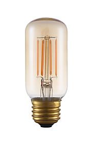 3.5 E26 LED-glødepærer T 4 COB 300 lm Ravgult Dimbar / Dekorativ AC 110-130 V 1 stk.