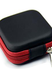La caja del filtro de almacenamiento para auriculares de cable del auricular del auricular caso de contenedores de almacenamiento caja de