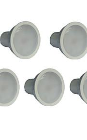 7W GU10 LED-spotpærer MR16 21 SMD 2835 500 lm Varm hvit AC 100-240 V 5 stk.