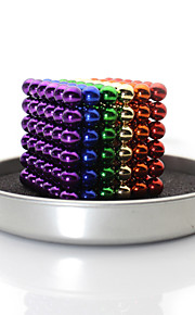 Linlinzz  Children's DIY Buckyball Stainless Steel Ball Steel Magnetic Sculptures Beads Healing Toys - 5MM (Colorful)