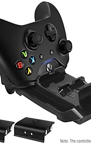 Xbox One & S Dual Controller Dock Charging Station Stand Base - Includes 2 Rechargeable Batteries and USB Charging Cable
