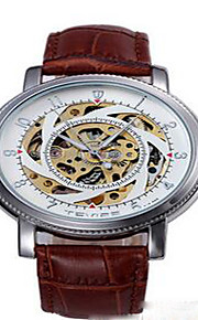 Tevise Masculino Mulheres Casal Relógio de Moda relógio mecânico Calendário Impermeável Luminoso Quartzo Aço Inoxidável BandaVintage