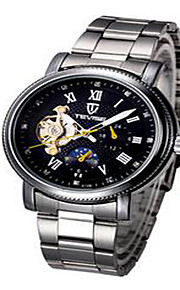 Tevise Masculino Mulheres Casal Relógio Esportivo Relógio Esqueleto Relógio de Moda relógio mecânicoQuartzo Automático - da corda