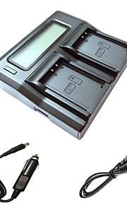 ismartdigi lpe10 lcd dual oplader med bil afgift kabel til Canon EOS 1100D t3 kiss x50 1200D kamera batterys