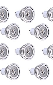3W GU10 LED-spotpærer 3 SMD 3030 250-300 lm Varm hvit / Kjølig hvit Dekorativ V 10 stk.