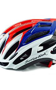 Unisex-Dağ / Yol / Spor-Bisiklete biniciliği / Dağ Bisikletçiliği / Yol Bisikletçiliği / Eğlence Bisikletçiliği / Diğerleri-Kask(Beyaz /