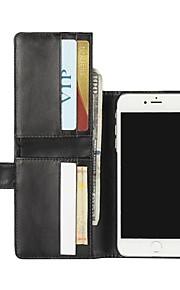 För Plånbok / Korthållare / med stativ / Lucka fodral Heltäckande fodral Enfärgat Hårt PU-läder för AppleiPhone 7 Plus / iPhone 7 /