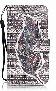 Tribal Feathers Painting PU Phone Case for apple iTouch 5 6