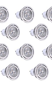 3W GU10 LED-spotpærer 3 SMD 3030 300 lm Varm hvit / Kjølig hvit Dekorativ AC 85-265 V 10 stk.