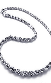 Men's Women's Necklace Titanium Steel Basic Jewelry For Party Daily