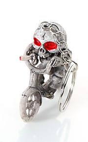 europa e os estados unidos de alto grau de qualidade da corrente chave criativa boutique moto esqueleto pendurar porta-chaves