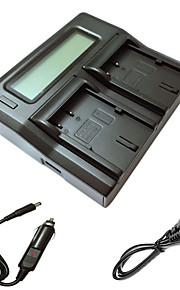 ismartdigi bp511 lcd dual oplader med bil afgift kabel til Canon EOS 300D 10d 20d 30d 40d 50d EOS 5D kamera batterys