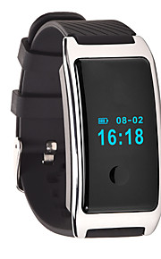 HFQ Bluetooth צמיד חכםעמיד במים / המתנה ארוכה / מד צעדים / ספורטיבי / מוניטור קצב לב / מסך מגע / Alarm Clock / רב שימושי / ניתן ללבישה /