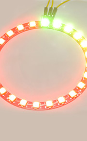 Smart Full-color LED RGB Ring Crab Kingdom WS2812 RGB Lamp Ring 5050 Development Board  24