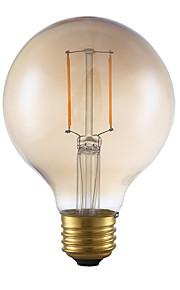 2W E26 LED-glødepærer G80 2 COB 180 lm Ravgult Dimbar AC 110-130 V 1 stk.