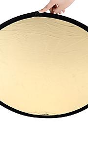 80 centímetros 2 em 1 ouro e prata punho de multi disco portátil reflector de luz dobrável para a fotografia 2 in1 ouro e prata