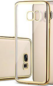 Per Samsung Galaxy S7 Edge Placcato / Transparente Custodia Custodia posteriore Custodia Tinta unita TPU SamsungS7 edge / S7 / S6 edge /