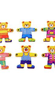 puslespil Pædagogisk legetøj / Puslespil Byggesten DIY legetøj 1 Træ Regnbue Hobbylegetøj
