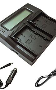 ismartdigi blf19 lcd carregador duplo com cabo de carga do carro para Panasonic DMW-blf19 Lumix DMC-GH3 gh4gk batterys câmera AG-GH4