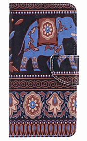 For Samsung Galaxy J7 prime J5 prime Brown Elephant Painting PU Phone Case