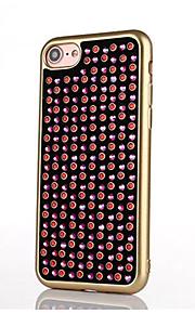 Für Strass / Beschichtung Hülle Rückseitenabdeckung Hülle Glänzender Schein Weich TPU für AppleiPhone 7 plus / iPhone 7 / iPhone 6s