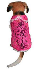 Cani Vestiti Rosa Abbigliamento per cani Estate / Primavera/Autunno Di pizzo Casual