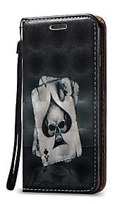 Für Kreditkartenfächer / mit Halterung / Flipbare Hülle Hülle Handyhülle für das ganze Handy Hülle Totenkopf Hart PU - Leder für Apple