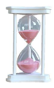 Timeglas Originalt legetøj Legetøj Træ Glas Ivory Orange Til drenge Til piger 8 til 13 år 14 år og op efter