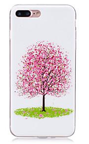 용 야광 / IMD 케이스 뒷면 커버 케이스 꽃장식 소프트 TPU 용 Apple 아이폰 7 플러스 / 아이폰 (7) / iPhone 6s Plus/6 Plus / iPhone 6s/6 / iPhone SE/5s/5 / iPhone 5c