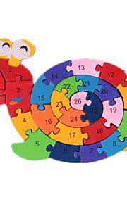 puslespil Byggesten DIY legetøj 1 Træ Regnbue