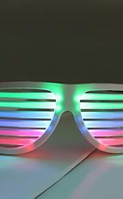 warm te koop oplaadbare witte kleur geluid geactiveerd zonnebril