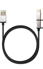 1m USB Cable Combo Micro USB  Type-C Data Sync Fast Charging Wire Type C Cables for Samsung Huawei Oneplus Xiaomi Android