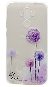 For Huawei P9 Plus P9 Lite P9 P8 Lite Y5 II Honor V8 Honor 8 Y600 Nova Mate 9 TPU Material Dandelion Pattern Painted Relief Phone Case