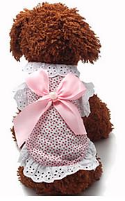 Cani Vestiti Rosa Abbigliamento per cani Estate / Primavera/Autunno Da principessa Casual