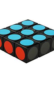 Legetøj Glat Speed Cube 1 * 3 * 3 Originale Minsker stress / Magiske terninger Sort Fade ABS / Plastik