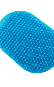 Cat / Dog Cleaning Brush / Baths Pet Grooming Supplies Double-Sided / Massage Blue Rubber