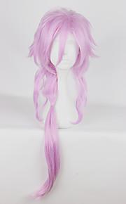 Pelucas de Cosplay Cosplay Cosplay Rosa Largo Animé Pelucas de Cosplay 87cm CM Fibra resistente al calor Mujer