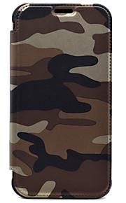 Для Кошелек / Бумажник для карт Кейс для Чехол Кейс для Камуфляж Твердый Искусственная кожа для Samsung S7 edge / S7