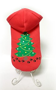 Dog Coat / Hoodie Red Dog Clothes Winter Floral / Botanical Cute / Fashion / Keep Warm / Christmas