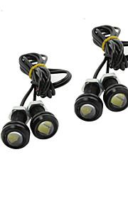 4X 9W LED Eagle Eye Lys Bil Tåke DRL Dagtid Reversere Backup Parkering Signal Svart 12V