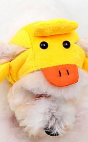 katten / honden kostuums / Bandana's & Hoeden Geel Hondenkleding Winter / Lente/Herfst Cartoon Schattig