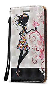 Для Кошелек / Бумажник для карт / Флип Кейс для Чехол Кейс для Соблазнительная девушка Твердый Искусственная кожа для SamsungS7 edge / S7