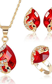 May Polly Exquisite crystal Peacock Necklace Earrings Set
